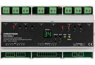 crestron unveils the din 8sw8 i an 8 channel lighting control module