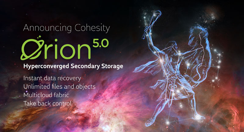 Cohesity Updates Orion Storage Software