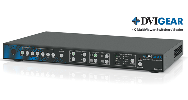 DVIGear Intros 4K MultiViewer Switcher/Scaler