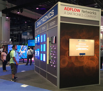 Daktronics  and ADFLOW Networks stand