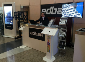 Edbak Shows New Totems & Info Kiosks at DSS Europe