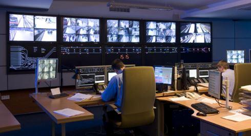 Control room with Edbak monitirs