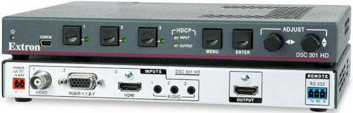 Extron Introduces Three Input HDCP-Compliant Scaler