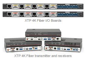 Extron Ships XTP 4K Fiber Products