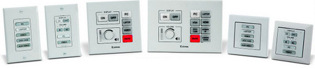 Extron Shipping Eight eBUS Button Panels & Accessories