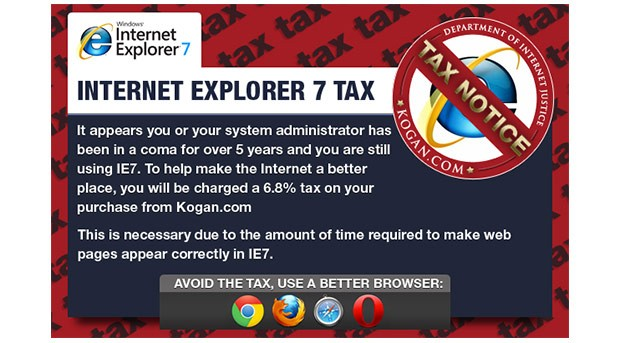 The Internet Explorer Tax