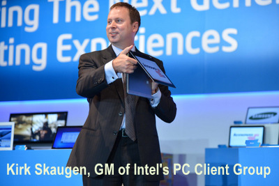 Intel's VP and GM PC Client Group, Kirk Skaugen