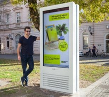 "75"" Outdoor Displays Star In Croatian DOOH Network"