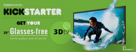 Dimenco No-Glasses 3D TV for €899