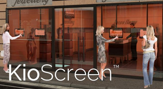 KioScreen, touch through glass