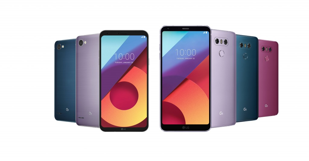 New Colours for LG G6, Q6 Phones