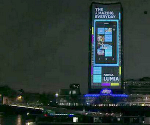 Nokia Lights Up London Landmark