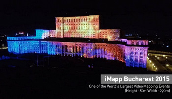 iMapp Bucharest, One Of The World's Largest Video Mapping Events