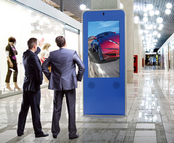 Peerless-AV indoor curved kiosk