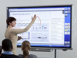 Sharps Entered The Interactive Whiteboard Business With Its New Display Which Is Less Than Half Price Of A Typical SMARTBoard