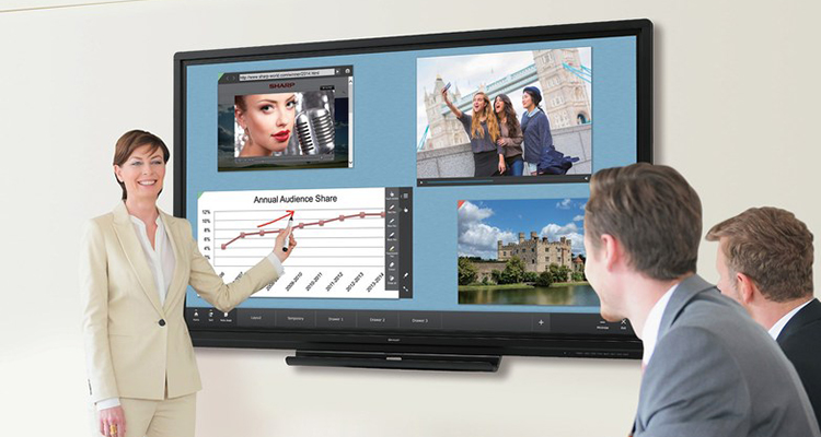Sharp Adds Aquos Board Interactive Displays