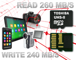 Toshiba Claims Fastest MicroSD Cards
