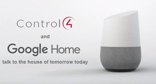 Control4 Google Hom
