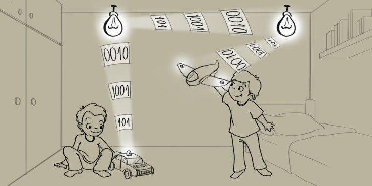 Linux Light Bulbs for LED-Based Communications