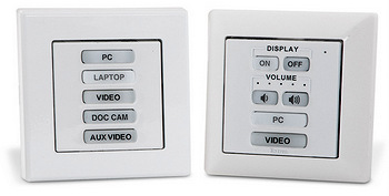Extron: eBUS Button Panels for EU and MK Wall Frames