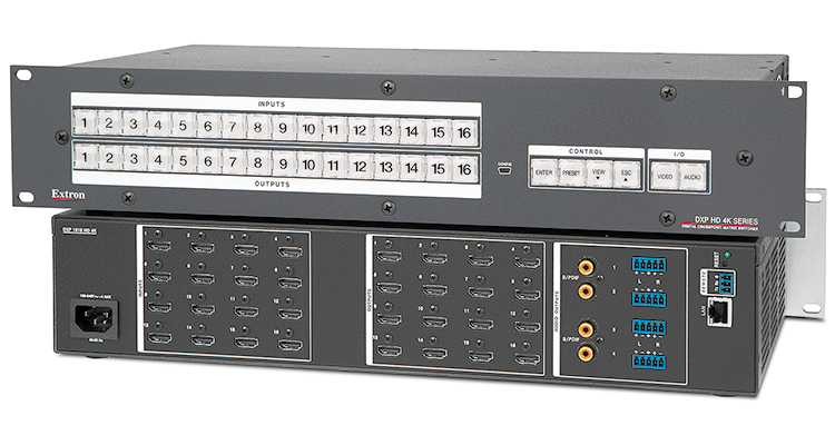 Extron Ships 4K HDMI Matrix Switchers