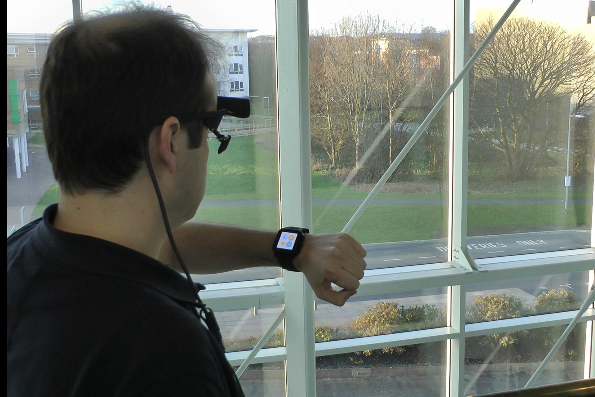 Smartwatch Control, Via Eye-Tracking