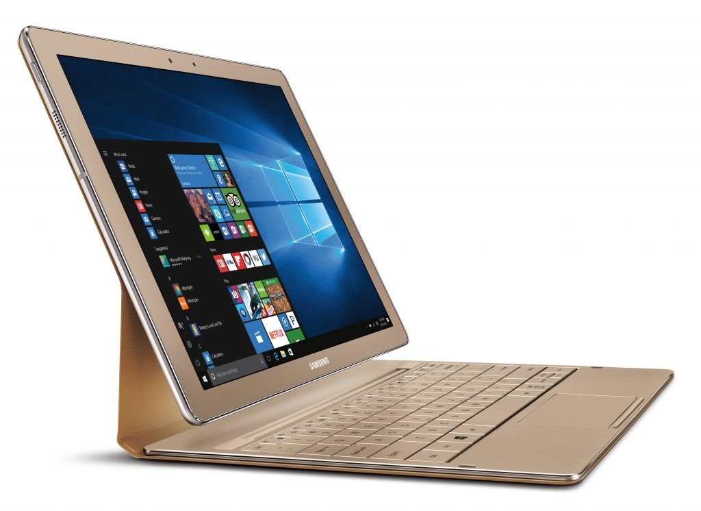 Samsung Gilds Galaxy TabPro S With Gold Edition