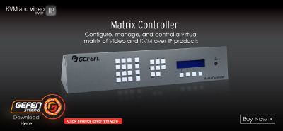 Easier Video over IP With Gefen Matrix Controller