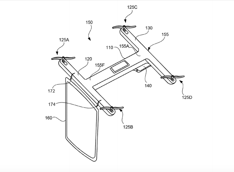 Google Patents Drone Conferencing