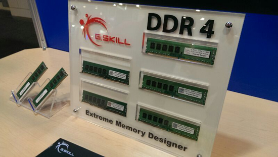 G.Skill Shows Off DDR4 at IDF 2013