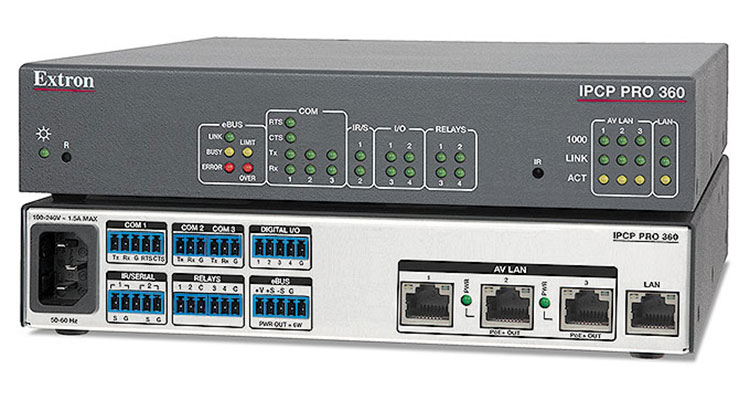 Extron's First Processor With AV LAN Ports, PoE+