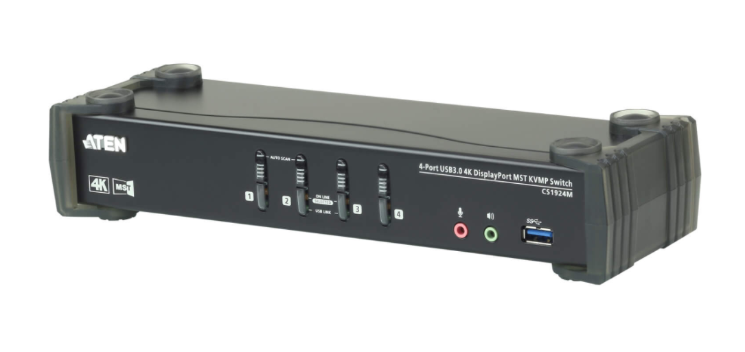 The First DisplayPort KVM Switch With Built-in MST Hub