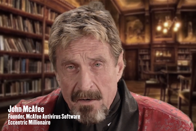 John McAfee to Fight the NSA
