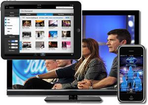 tv tablet smartphone