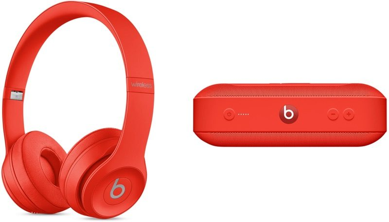 Apple Intros (PRODUCT)RED Solo3 Headphones, Pill+ Speaker