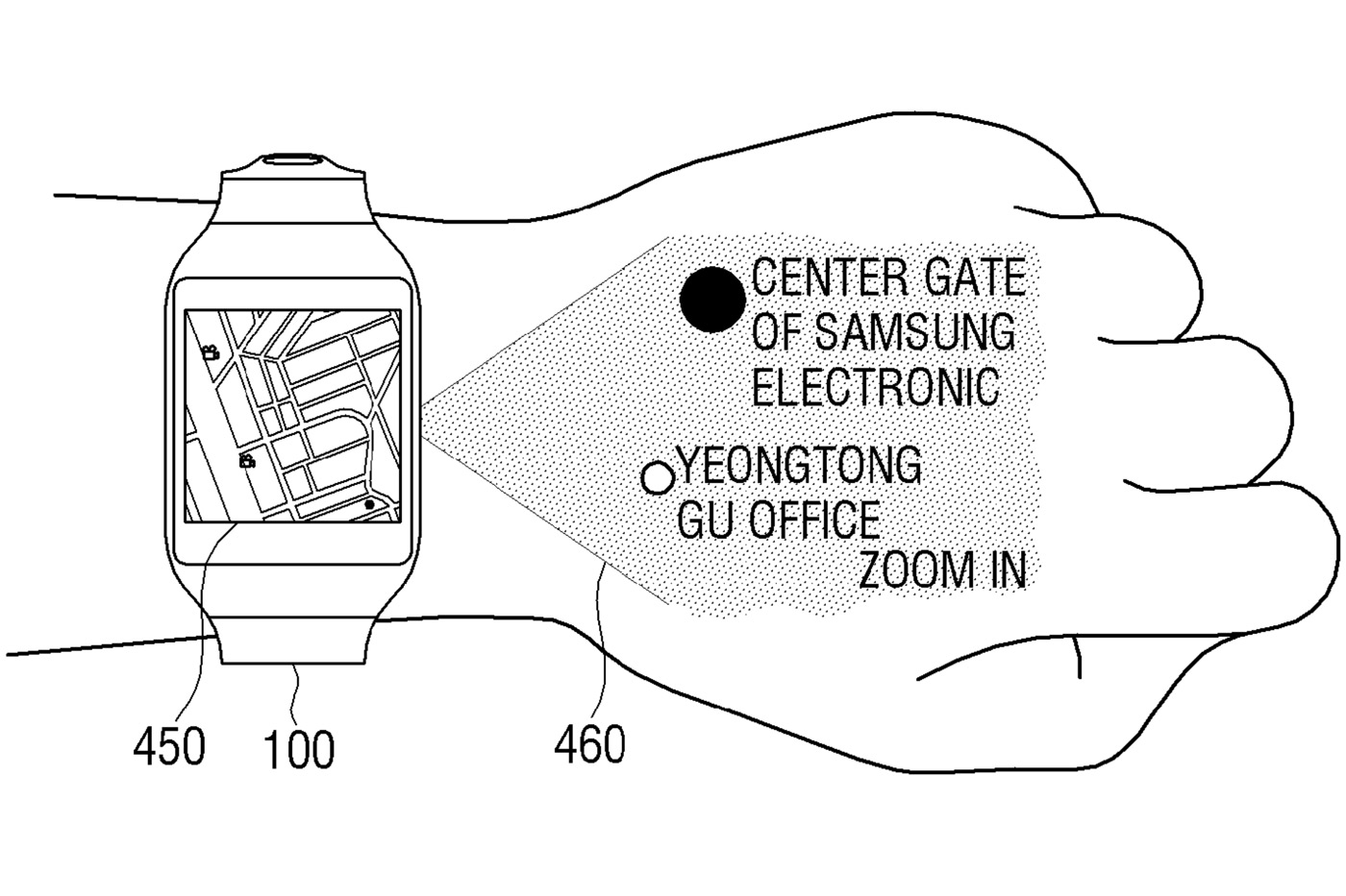 Samsung Patents Screen-Projecting Smartwatch