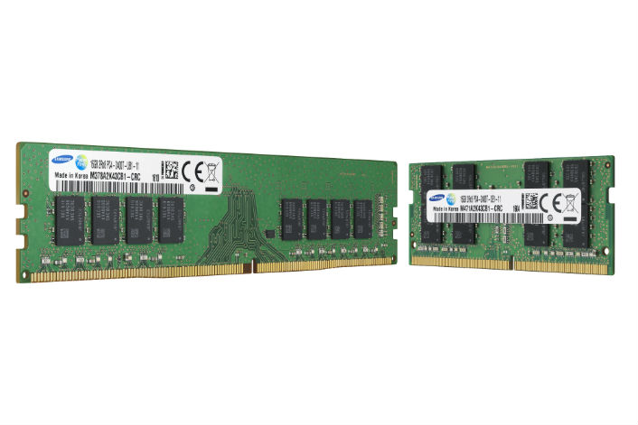 Samsung Mass Produces 10nm DDR4 DRAM