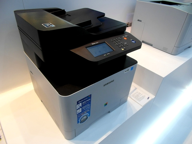 Samsung NFC-Enabled Printers at CeBIT