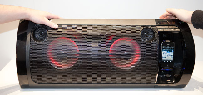 ... a boombox over your head (maybe to do like John Cusack in Say Anything), ...