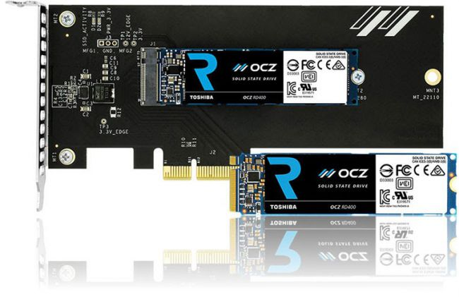 Toshiba Launches OCZ RD400 NVMe SSDs