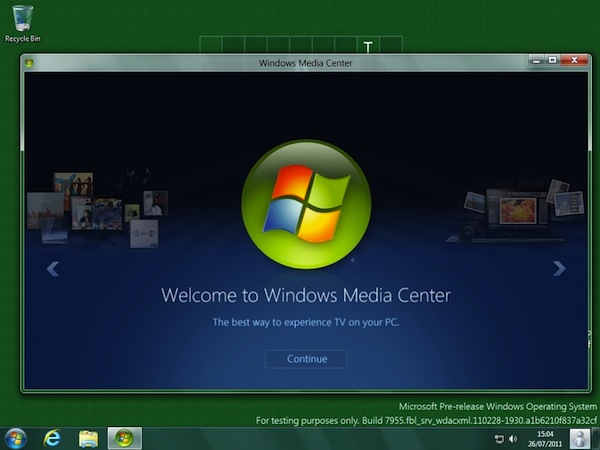 Windows 8 Gets Media Center as Add-On