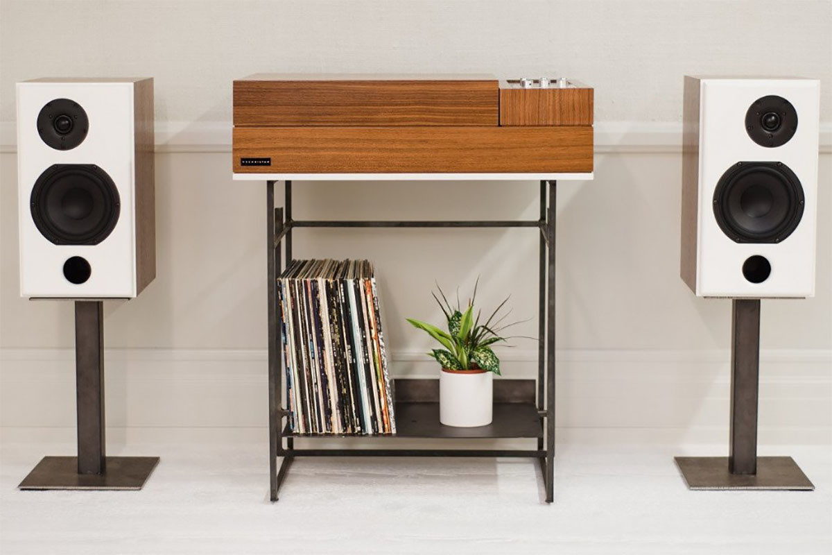 A Wrensilva Record Console To Stream Sonos Whole Home Audio System And Lighter Take On The Loft Built Out Of N American Walnut Able Records Directly Speaker Systems